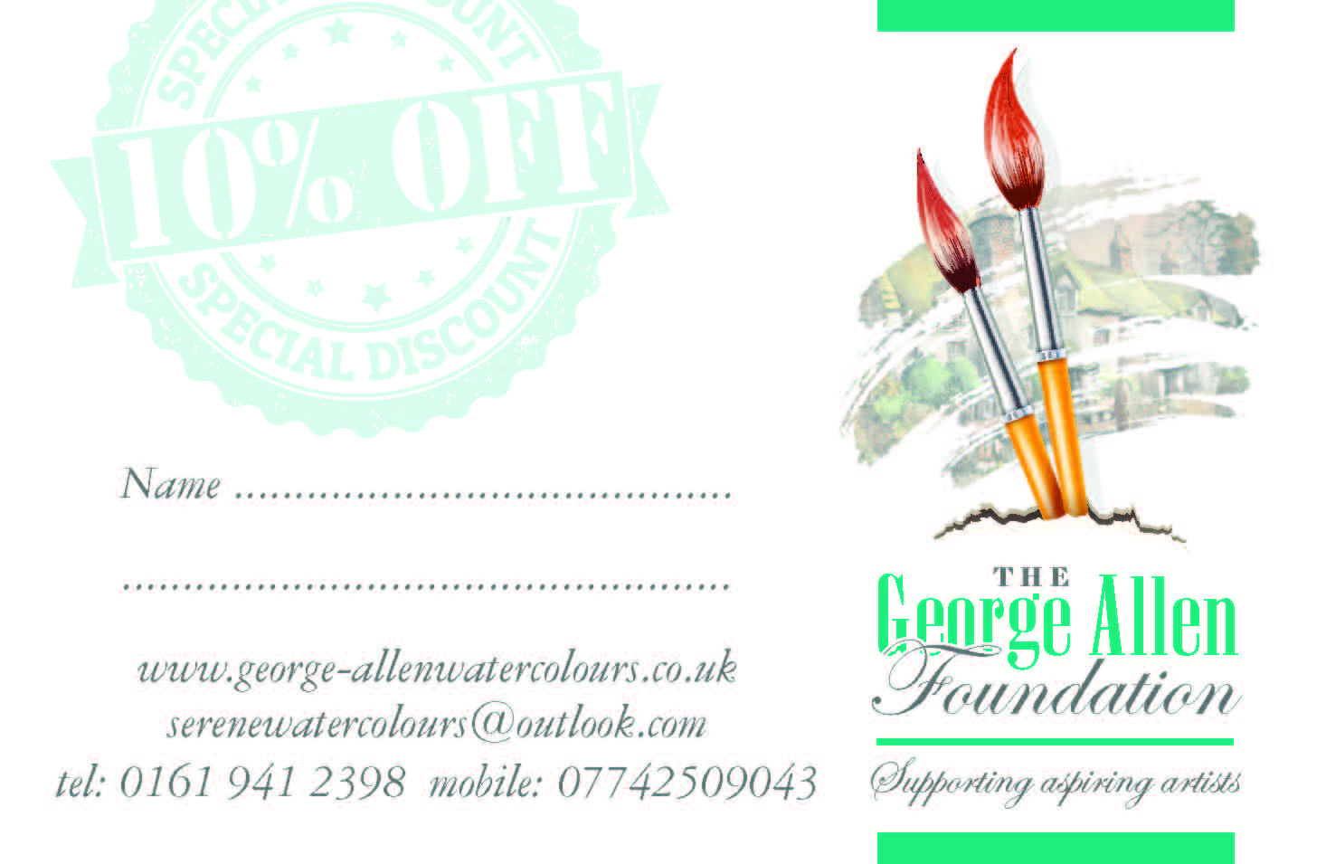 Discount on all your framing, printing, stationery requirements ...